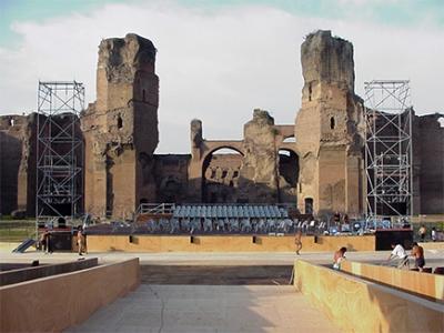 Allestimento audio - Terme di Caracalla